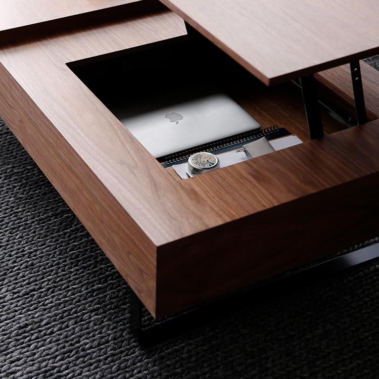 収納スペースもある昇降式テーブル