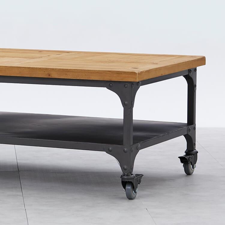 キャスター付きローテーブル
