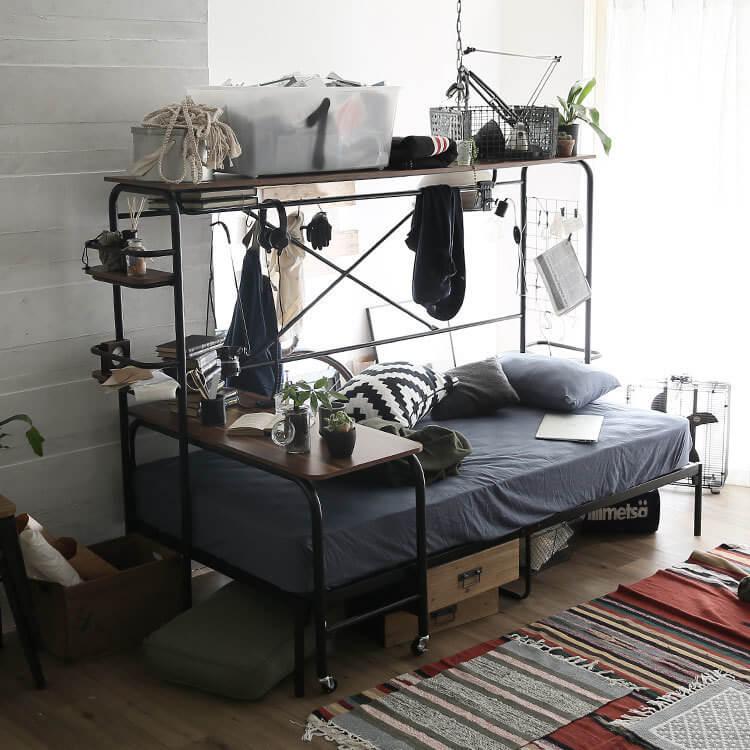 LOWYAの収納シングルベッド